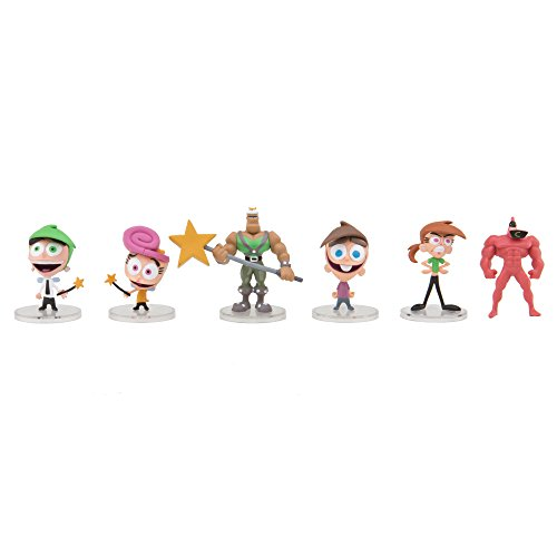 Nicktoons Fairly Odd Parents Deluxe Collector Toys (6-Pack), 2""