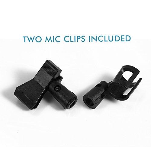 "Ohuhu Microphone Stand Dual Mic Clip, Collapsible Tripod Boom Stand, Black, 3.4"" x 3.4"" x 27.2"" - Image 4"