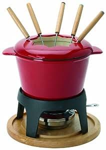 Prepapration & Plaisir P9480 - Conjunto de fondue con cuenco, color rojo