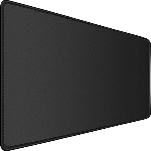 Larger Extended Gaming Mouse Pad with Stitched Edges, Durable XXL Computer Mouse Pad, Office Desk Mat,Laptop Desk Pad,Non-Slip Base Waterproof Writing Desk Mat for Office,Home, Black