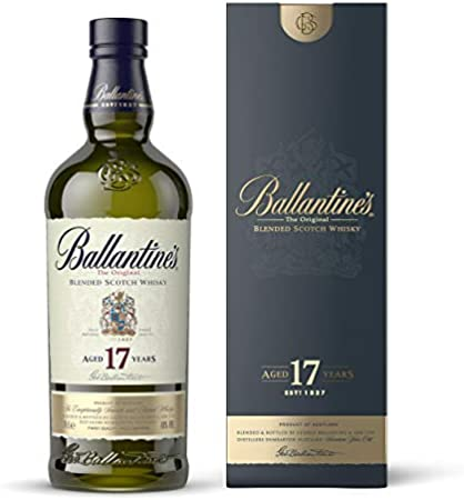 Ballantines 17 años Blended Scotch - Juego de 2 Whisky, Alcohol, 40%, 2 x 700 ml