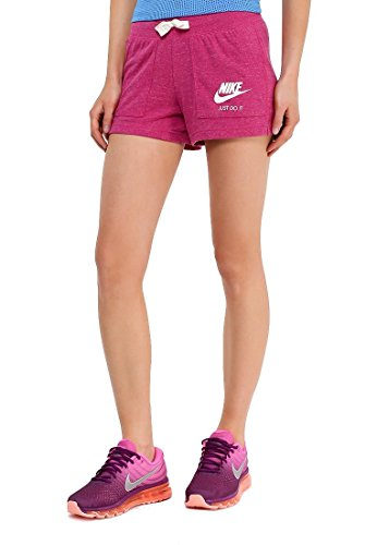 Nike Womens Gym Vintage Shorts Sport Fuchsia/Sail 883733-607 Size Medium (Athletic Vintage Shorts)
