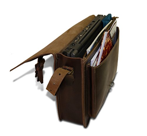 Cartella portadocumenti th1419–�?0RG Tabacco Ranger in pelle 38cm Thielemann/lefox
