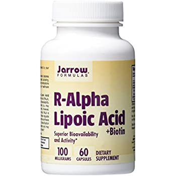 Jarrow Formulas R-Alpha Lipoic Acid, Supports Energy, Cardio Vascular Health, 100 mg, 60 Caps