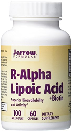 Jarrow Biotin Formulas - Jarrow Formulas R-Alpha Lipoic Acid, Supports Energy, Cardio Vascular Health, 100 mg, 60 Caps