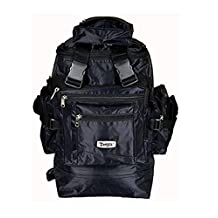 Rucksack Backpack Bags for Travelling Hiking & Trekking Multi Pockets 75 Litre Extra Large (XL) Black