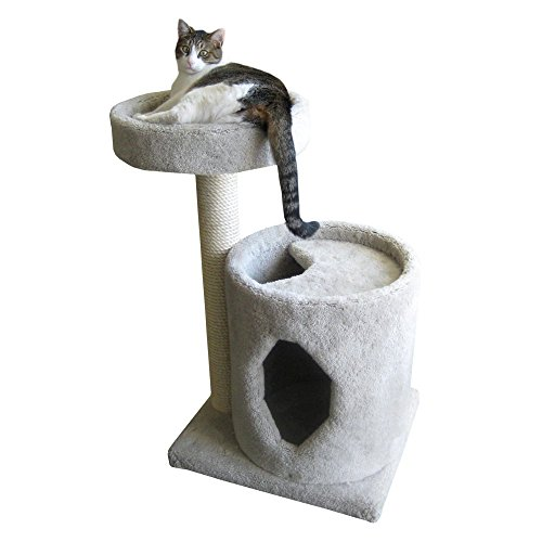 Molly and Friends MF-36-green Two-Tier Scratching Post Furniture, Green by Molly and Friends