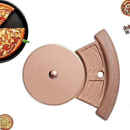 Materiales resistentes a altas temperaturas: la rueda de cortador de pizza está hecha de acero inoxi