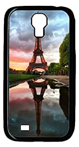 Brian114 Samsung Galaxy S4 Case, S4 Case - Black Hard PC Cases for Samsung Galaxy S4 I9500 Eiffel Tower 3 Ultra Fit for Samsung Galaxy S4 I9500