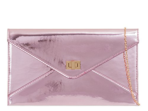 Evening Women's Purses Pink Party Wedding Envelope LeahWard Patent 042 Bags Clutch pB6wf