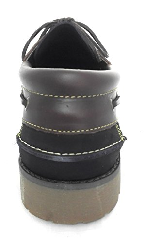 Zerimar Zapato Náutico de Piel Para Hombre Tallas Grandes Náutico Para Hombre Azul marino
