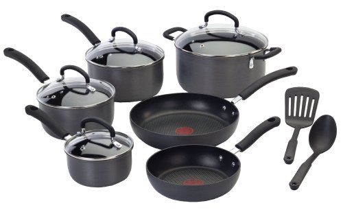 T-Fal E765SC64 Ultimate Hard Anodized 12-piece Cookware Set,