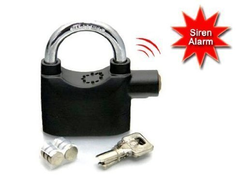 Stelar Anti Theft Burglar Pad Lock Alarm Security Siren for Home Office Bike Bicycle Shop  Standard, Multicolour