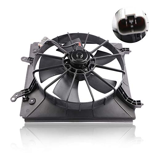 MOSTPLUS Front LeftSide Radiator Cooling Fan Assembly for Honda Accord Acura CL TL V6 Replaces 19015P8CA01