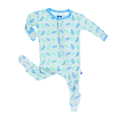 Price comparison product image KicKee Pants Baby Boys Print Footie Prd-kpf175-pfd,  Palm Frond,  6-9 Months