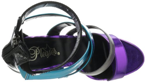 Pleaser - Sandalias mujer Multi Met Pu/Pewter Chrome