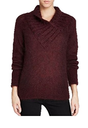 BURBERRY Brit Women's Mahogany Red Mohair/Wool Sweater, US Large (Mohair Wool Sweater)