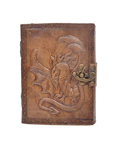 Vintage Handmade Embossed Charcoal Color Book College Book Sketch Book Office Handbook Leathe Journal New Dragon Embossed Notebook Diary Appointment Organizer Poetry Book 7x5 Inches