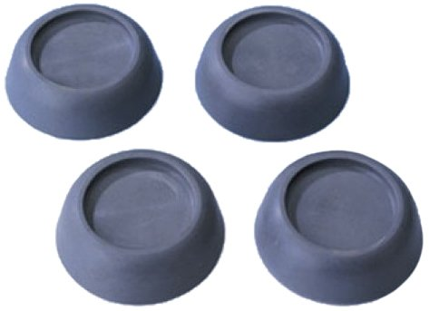 Wenko 7301100 Vibrationsdämpfer - 4er Set, Kunststoff - Thermoplast, 4.5 x 2 x 4.5 cm, Grau