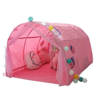 isilky Bed Tent, Children Bed Tent Game House Baby Home Tent Boy Girl Safe House Tunnel Tent - 140x100x80 cm: Home & Kitchen