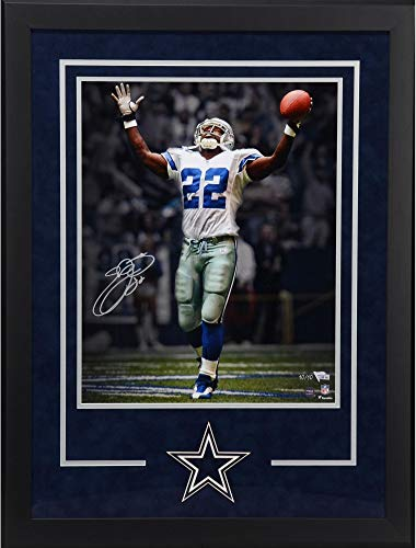 Emmitt Smith Dallas Cowboys Deluxe Framed Autographed 16