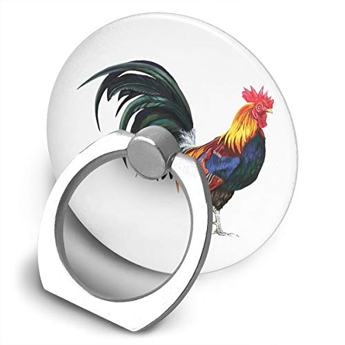 Yuotry 360 Degree Rotating Ring Stand Grip Mounts Rooster Vintage Universal Phone Ring Bracket Holder Smartphone Ring Stent