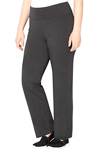 Avenue Women's Tummy Control Bootcut Active Pant, 30/32 Dark Grey