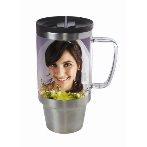 Stainless Steel Photo Travel Mug (Personalized Photo Mugs compare prices)