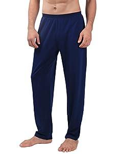 David Archy Men's Soft Cotton Jersey Knit Pajama Pants
