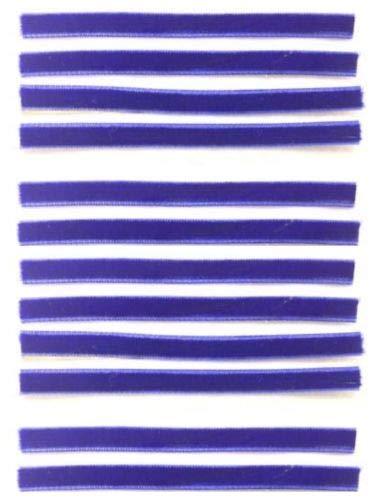 Replacement VPI Strips (Qty. 12) Luxury Velvet/Felt 3M Adhesive Okki Nokki Vinyl Record - Blue