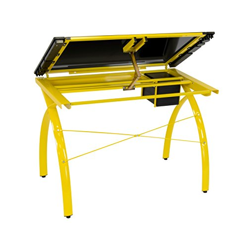 Studio Designs 10078.0 Futura Craft Station Black Glass, Yellow by Studio Designs