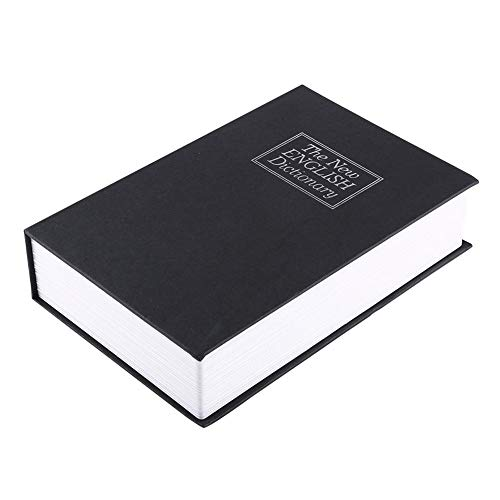 Creative Fake Book Hidden Safe Box Metal Inner Container with 2 Keys Hollow Dictionary Diversion Secret Book Safe for Home Use or Important Documents Storage(24015555MM) (Best Safe For Home Use)