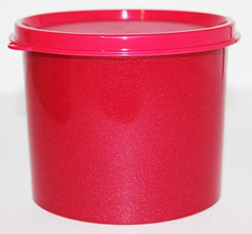 (Tupperware Canister in Sparkle Red 2.5 Cup Capacity)