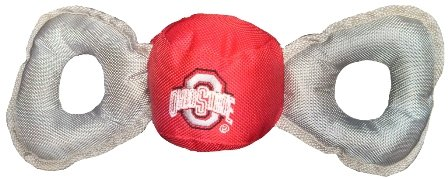 Ohio State Buckey Nylon Tug Pet Ball w/squeaker by Marketing Results, Ltd.