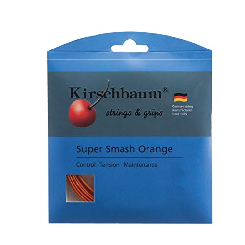 Kirschbaum Set Super Smash Orange Tennis String, 1.28mm/16-Gauge, Orange