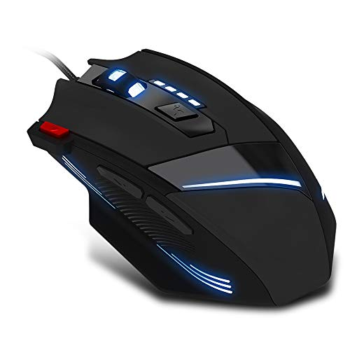 IhDFR Wired Gaming Mouse Comfortable Grip Ergonomic Optical Gaming Mice LED Backlit for Computer Laptop Gamers