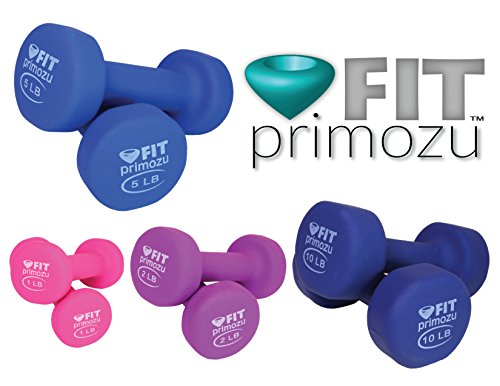 Primozu FIT Neoprene Dumbbells (SETS, PAIRS & SINGLES)
