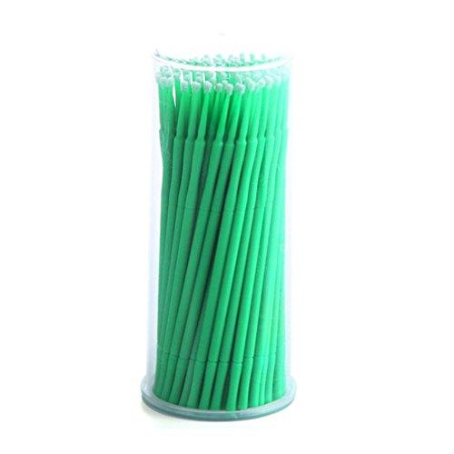 Green Free Sterilizer (Micro Brushes, Iusun 100Pcs Bottle Microblading Micro Brushes Swab Lint Free Tattoo Permanent Supplies (Green, M))