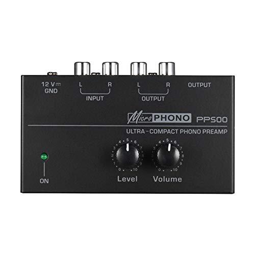 PP500 voorversterker met draagbare volumeregeling van metaal, elektronische phonograaf voor thuis, stereo phono…