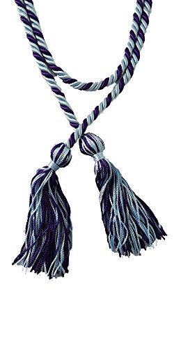 Honors Graduation Two-Color Braided Cords (Light Blue and Purple)