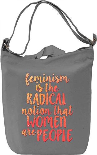 Feminism Borsa Giornaliera Canvas Canvas Day Bag| 100% Premium Cotton Canvas| DTG Printing|