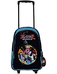 Yugioh Yu-gi-oh 16 Backpack Rolling Large School Bag with Wheels