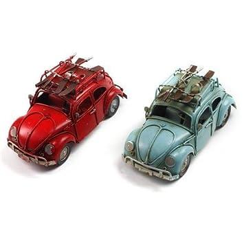 Signes Grimalt - Objeto de decoración para Volkswagen de mariquitas con tabla de surf (1 unidades), metal, 15 cm 66886SG: Amazon.es: Hogar