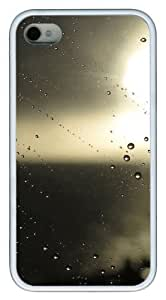 iphone 4 cases customize Water droplets N003 TPU White for Apple iPhone 4/4S