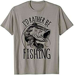 Cool gift Fishing  | I'd Rather Be Fishing Tshirt Gift Women Long Sleeve Funny Shirt / Navy / S - 5XL