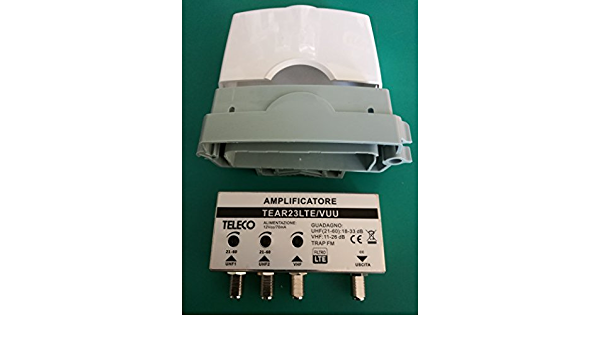 Amplificador para antena TV 2 entradas UHF 33 dB 1 entrada ...