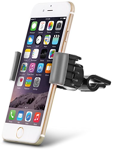 "Aduro U-GRIP SWIVEL Universal Smartphone Air Vent Car Mount Holder with 360° Rotating swivel head compatible Apple iPhone, Samsung Galaxy, HTC and all Devices up to 6"" (Gray)"