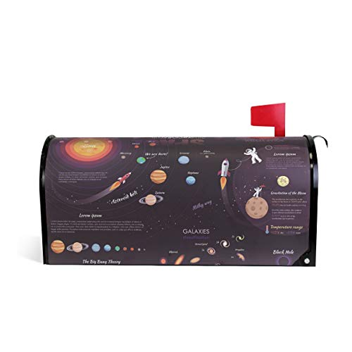 (WIHVE Mailbox Cover Moon Space Milky Way Solar System Magnetic Post Box Cover Wrap Home Decoration)