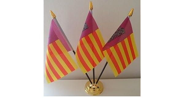 Flag Co Mallorca España 3 Bandera Española Mesa de sobremesa con ...