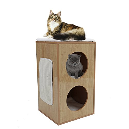 PAWZ Road Cat House with Scratching Pad Household Style Multifunctional Chair Creative Modern Square Cat Condo - Hut Modern